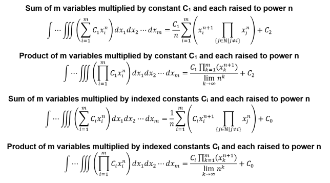 m-dimensional integration special cases